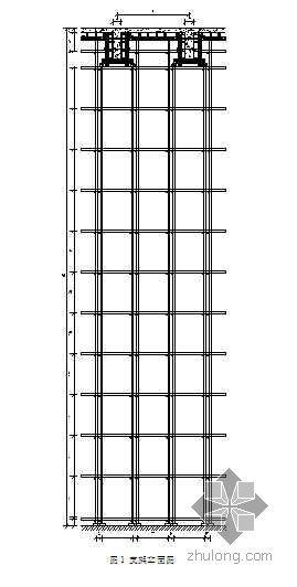 银川某超高层建筑高支撑模板支架方案(计算书  高14.6m)