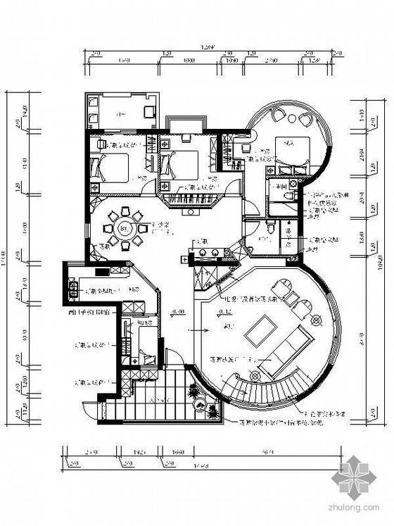 新中式风格豪华复式装修图(含效果)