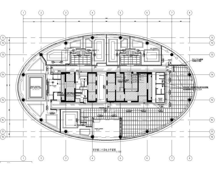 [宁夏]高档写字楼20层精装机电全套图纸