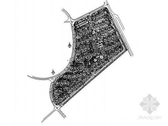 [南京]现代小镇居住区景观规划设计施工图(著名设计公司)