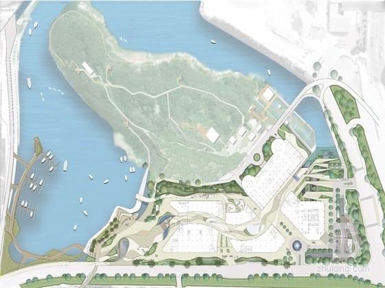 [深圳]顶级休闲度假商业综合楼景观规划方案