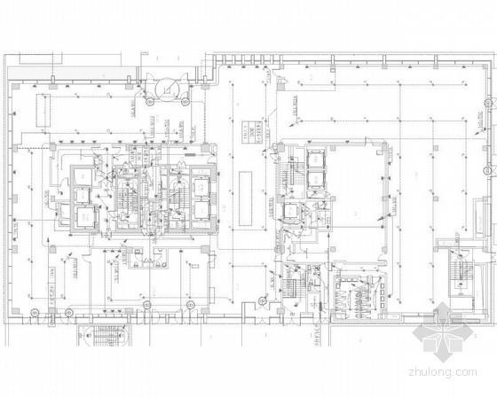 [上海]综合商业区强弱电施工图270张(办公楼 酒店 系统全面 甲级设计院)