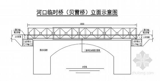 [四川]水电站施工临时桥施工方案(附贝雷桥计算书)