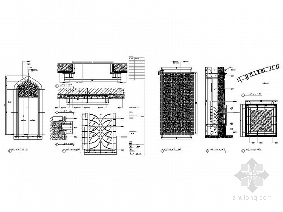 [成都]豪华四层商务会所室内装修图(含方案文本) 节点