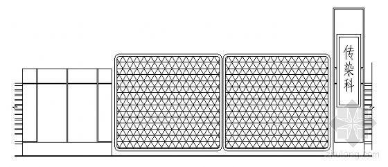 西南医院传染科大门建筑设计方案图
