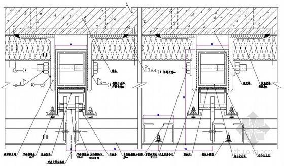 铝板幕墙加强筋横剖节点图