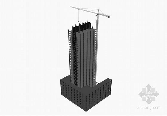 [广东]框剪结构、钢结构超高层塔楼总承包施工组织设计(400余页)-钢结构安装封顶示意图