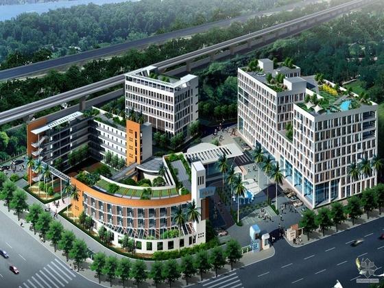 [华南]某家电研究院(研发楼、宿舍楼、餐厅及大门、厂房)设计方案文本
