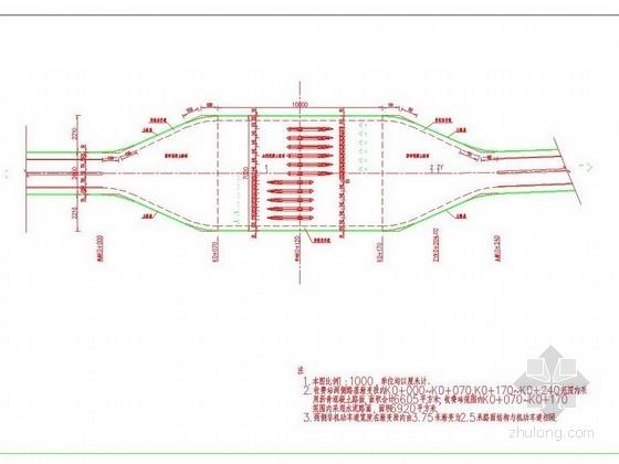 高速公路入口收费站平面及路面结构设计图