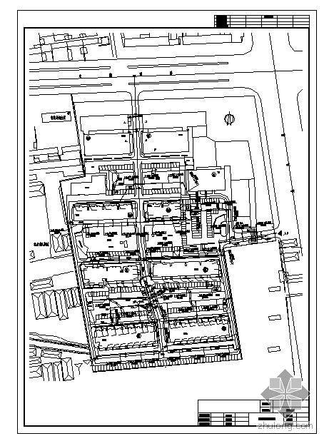 某小区外网给排水消防综合管道设计图