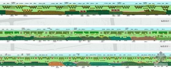 [上海]某河道滨水景观绿化设计图