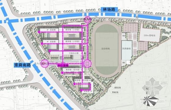 66班九年一贯制校园规划设计方案文本-66班九年一贯制校园规划设计分析图