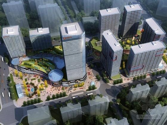 [南京]超高层玻璃幕墙复合型城市综合体建筑设计方案文本(多个地块)