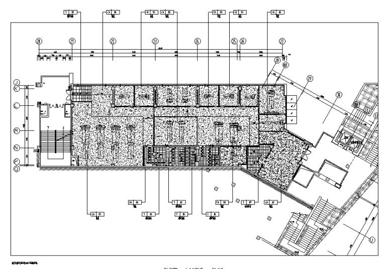 [重庆]现代风格售楼处概念方案设计施工图(附效果图+物料表)-二层地坪图