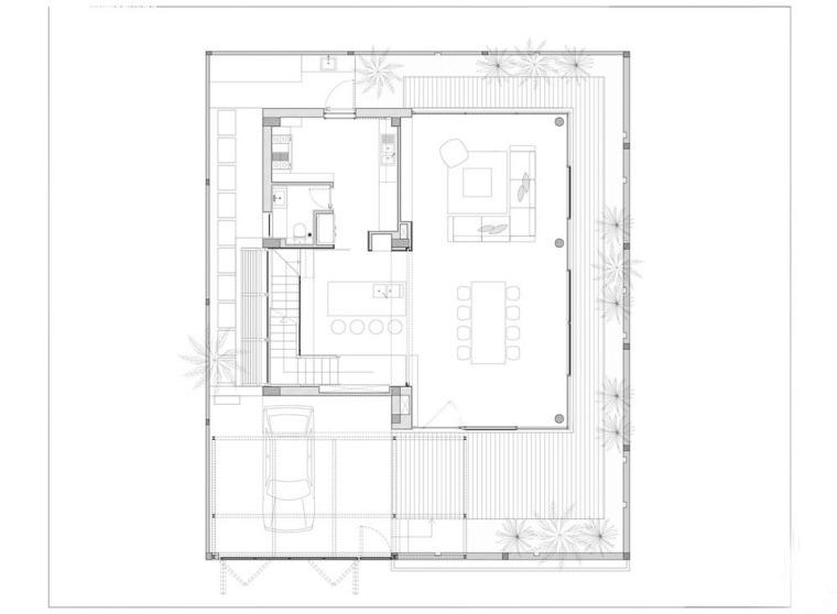 越南胡志明白色方块住宅-21