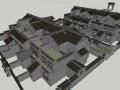 中式风别墅小区建筑SU模型