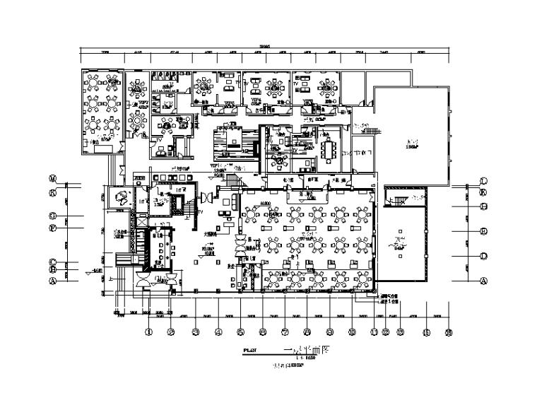 [河南]新中式大酒店中餐厅设计CAD施工图(含效果图)