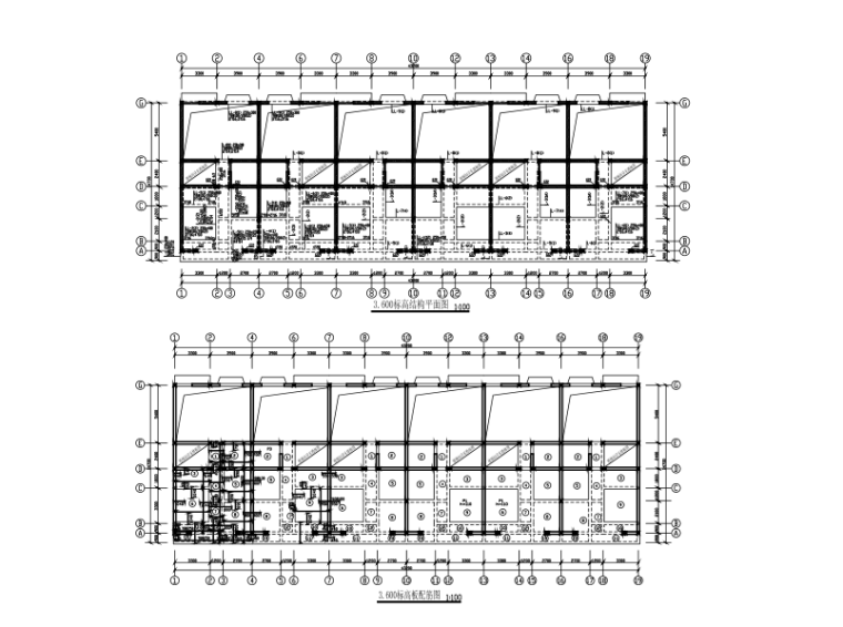 四层砖混连体别墅结构施工图