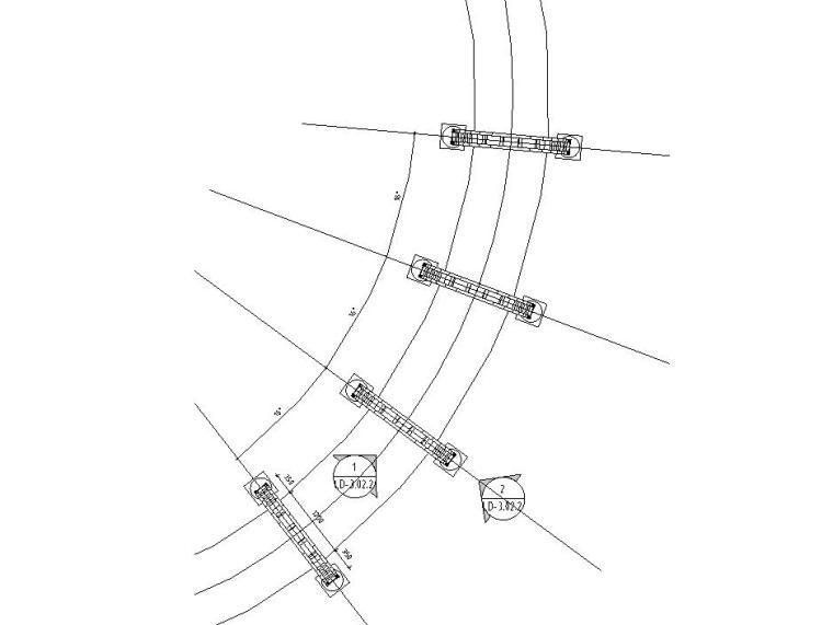 特色弧形廊架设计详图(钢结构)——泛亚景观