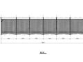 膜结构停车棚施工图(CAD、6张)