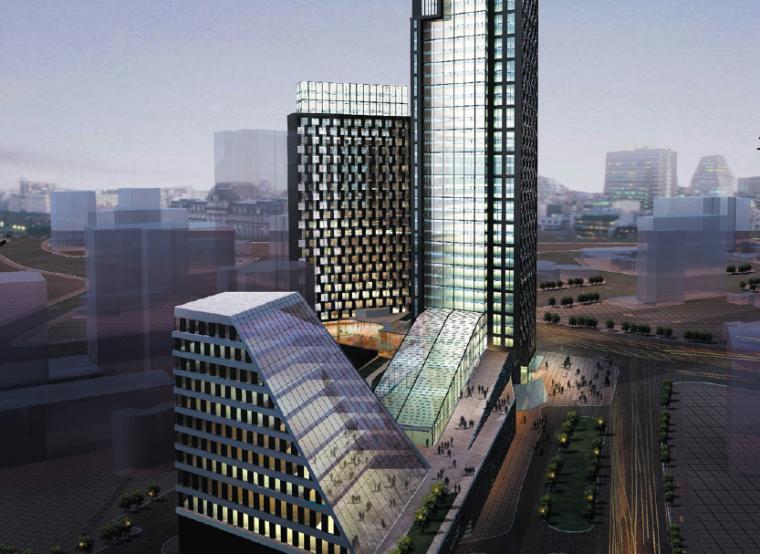 [上海]天目路耀江城项目商业综合体建筑设计方案文本