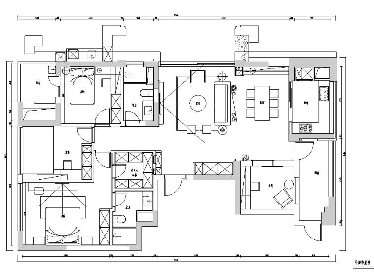 理性与感性|富阳绿城景和园住宅设计施工图(附效果图)
