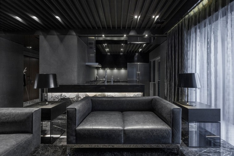 台北黑色调的公寓_5