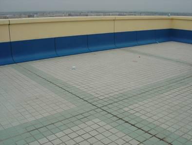 建筑施工屋面工程细部节点工艺-防水层-地砖铺贴