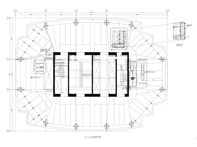 上海市大中里22层及23层机房及密集柜及增建楼梯改造加固施工图