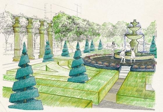 模纹花园效果图