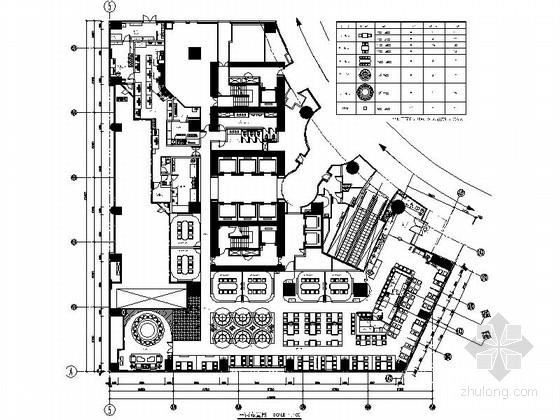[北京]城中之城独特现代风格餐厅CAD装修施工图(含效果)