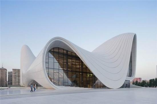 阿塞拜疆的地标建筑曲线民主哲学思想