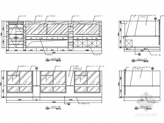[杭州]社区综合性医疗卫生服务中心室内装修设计施工图(含效果)药房立面图