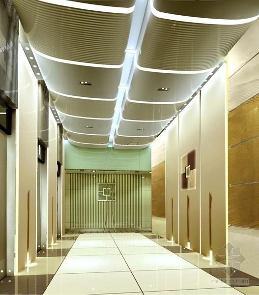 1基础设施开发性金融机构高档现代营业厅设计方案 电梯间