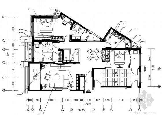 [河北]现代简约舒适的三居室家装施工图(含实景图)