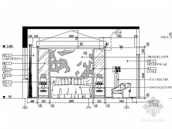 [苏州]新中式豪华4层别墅全套CAD施工图(含效果图)-[苏州]新中式豪华4层别墅全套CAD施工图立面图
