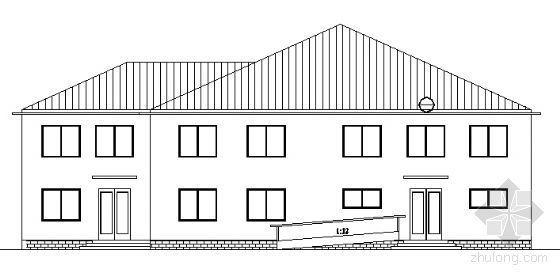 某二层办公小楼建筑方案图