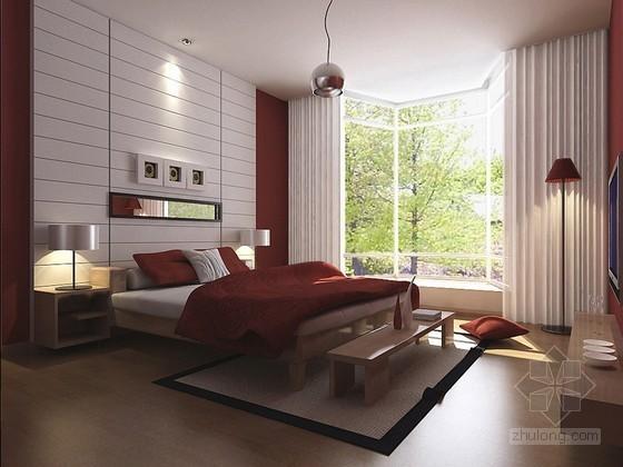 时尚卧室3D模型下载