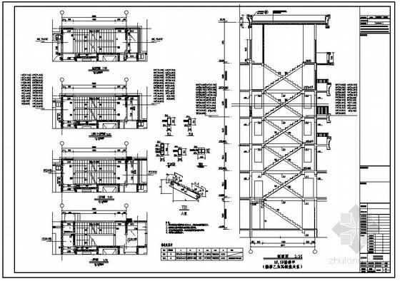 某小区住宅楼梯节点构造详图