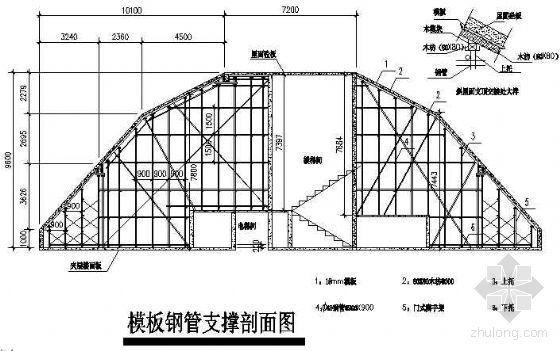 广州市某高层住宅楼斜屋面高支模施工方案