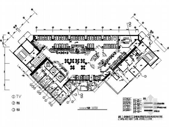 VIP包房室内装修施工图资料下载-[北京]时尚现代风名品咖啡厅室内装修施工图(含效果)