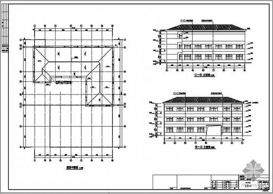 常州某四坡屋面框架结厂房建筑结构设计图(含PKPM计算模型)