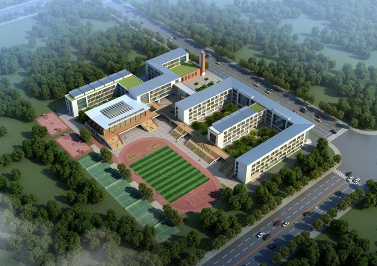 [河南]现代主义单坡屋顶36班小学建筑设计方案文本