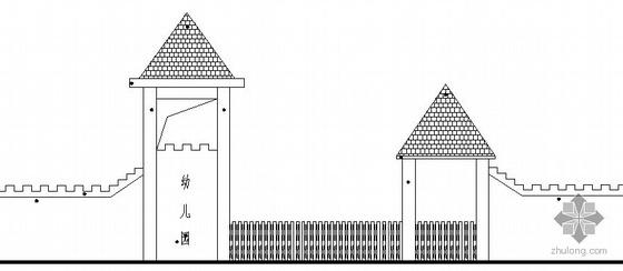 某幼儿园大门建筑方案图