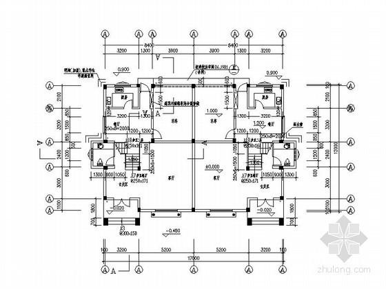 某四层双拼别墅户型图