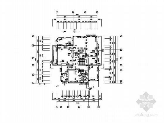 [广州]某二层独栋别墅户型图(含地下室)