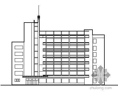 四川某企业七层办公综合楼方案图