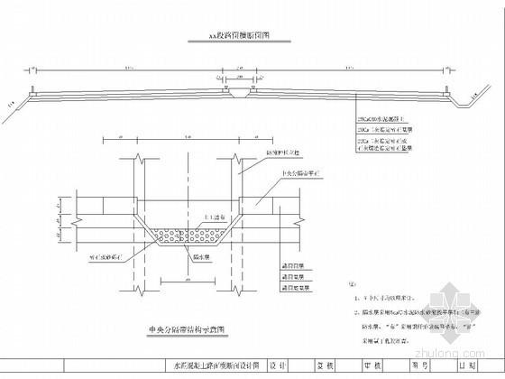 水泥混凝土路面横断面设计图