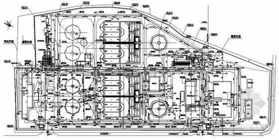 [四川]工业园污水处理厂全套施工图(氧化沟 纤维滤池 曝气沉砂池)