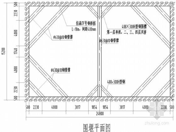 iv型钢板桩施工方案资料下载-[江苏]特大桥工程钢板桩围堰专项施工方案(内附详细计算书)